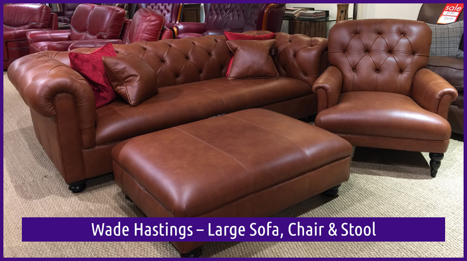 Wade Hastings – Large Sofa, Chair & Stool is in the Dovetail Interiors September Clearance Sale for 2017