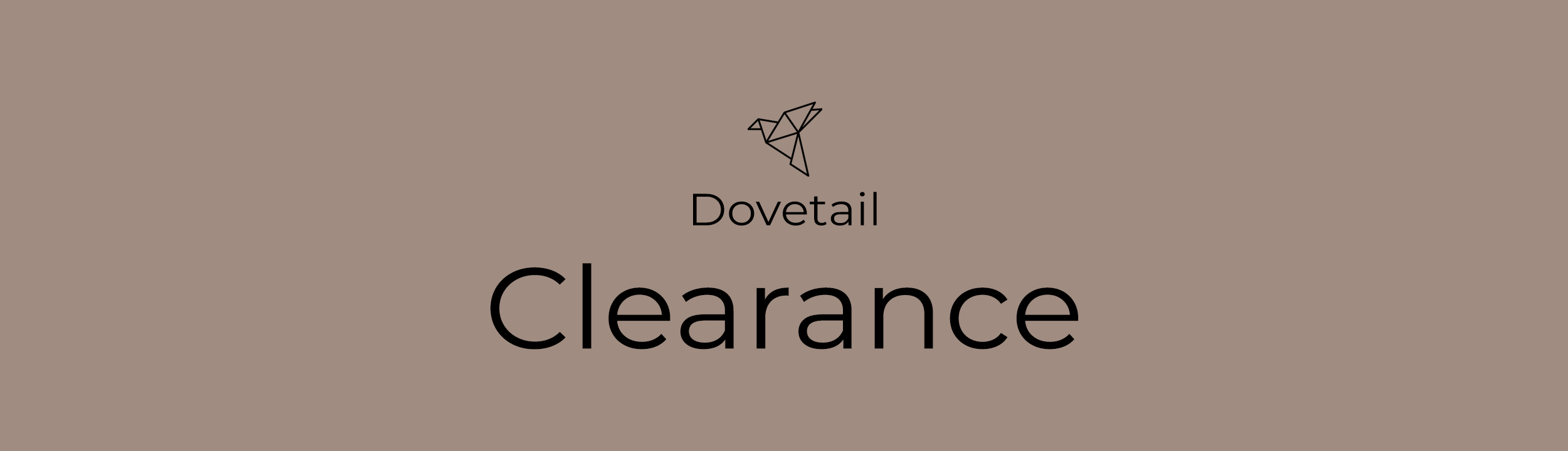 Dovetail Furniture header image for the Clearance page